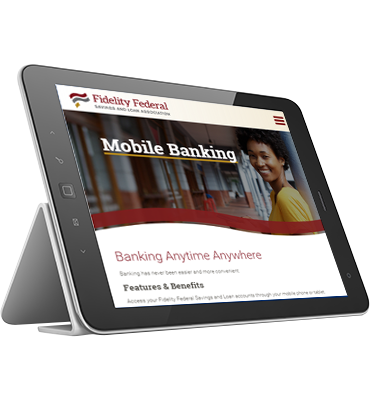 Promo - Tablet with Mobile Banking